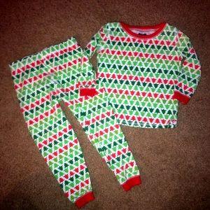 Mud Pie Christmas tree pajamas, size 3T
